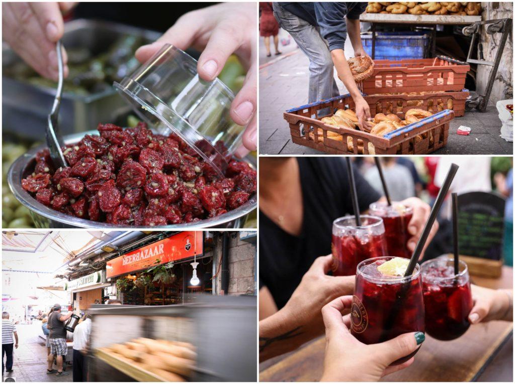 צילום אוכל בשוק מחנה יהודה